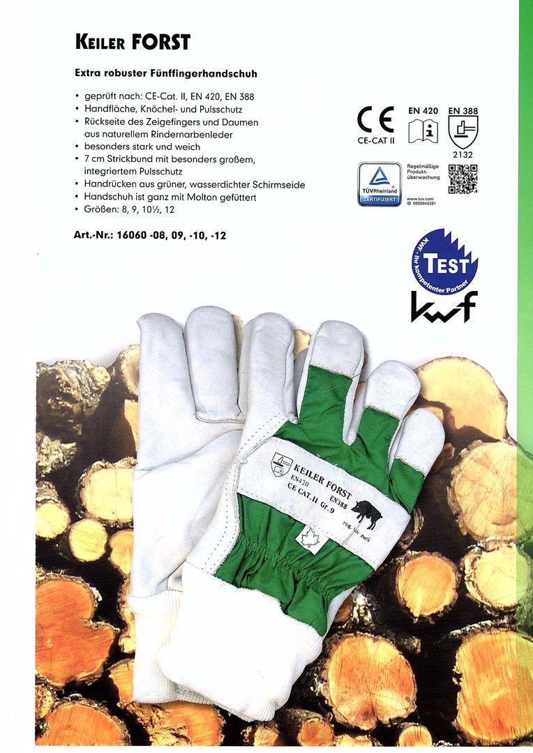 10 Paar Arbeits-Handschuhe Gr.8,0 KEILER-FIT